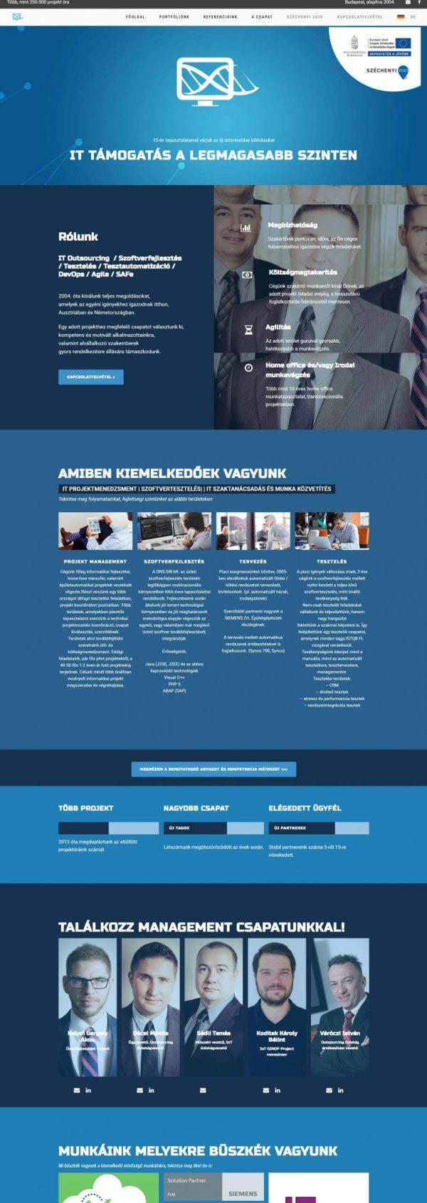 Weboldal készítés minta
